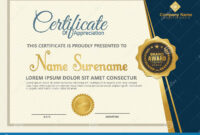 Elegant Certificate Template Vector With Luxury And Modern within Elegant Certificate Templates Free