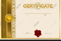 Elegant Template Vector & Photo (Free Trial) | Bigstock inside Elegant Certificate Templates Free