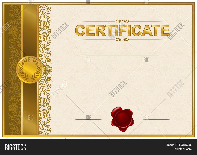 Elegant Template Vector & Photo (Free Trial) | Bigstock Inside Elegant Certificate Templates Free