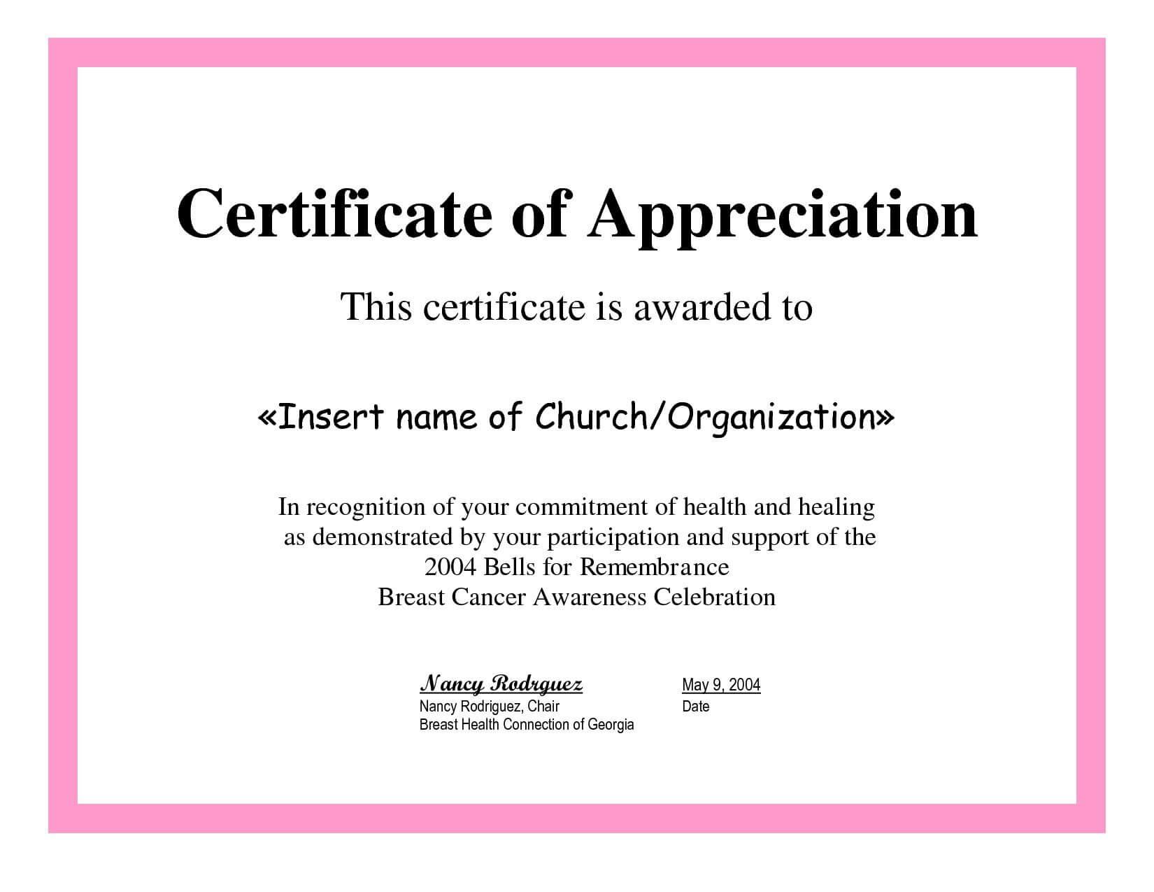 Employee Appreciation Certificate Template Free Recognition Regarding Employee Recognition Certificates Templates Free