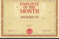 Employee Month Certificate Template Stock Vector (Royalty Pertaining To Employee Of The Month Certificate Template With Picture