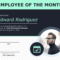 Employee Of The Month Certificate Of Recognition Template In Employee Of The Month Certificate Template With Picture