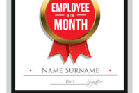 Employee Of The Month Certificate Template pertaining to Employee Of The Month Certificate Template With Picture