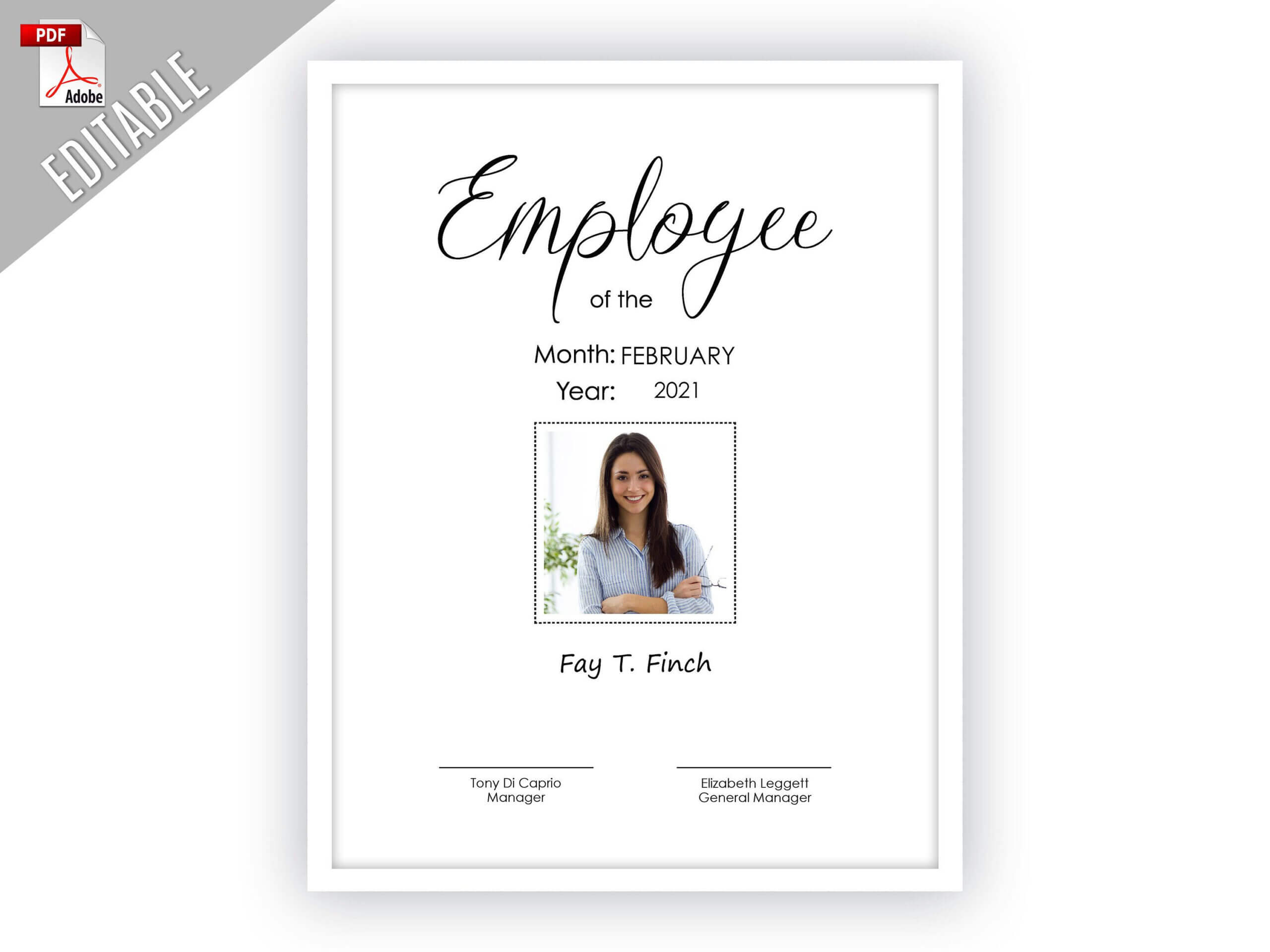 Employee Of The Month Editable Template Editable Picture With Employee Of The Month Certificate Template With Picture