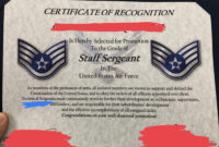 Excited For My Promotion To Sta— Uhh : Airforce with regard to Officer Promotion Certificate Template