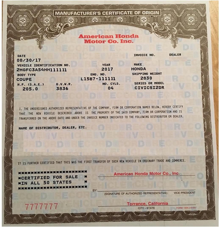 🥰free Printable Certificate Of Origin Form Template [Pdf Regarding Certificate Of Origin For A Vehicle Template