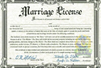 Fake Marriage Certificate | Marriage Certificate, Marriage throughout Blank Marriage Certificate Template