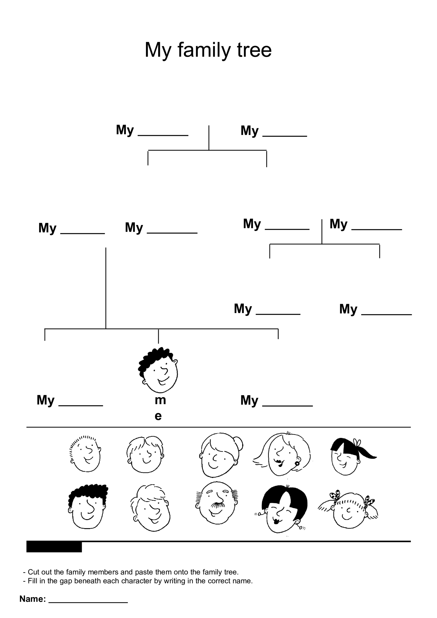 Family Tree Children | Templates At Allbusinesstemplates Regarding Powerpoint Genealogy Template