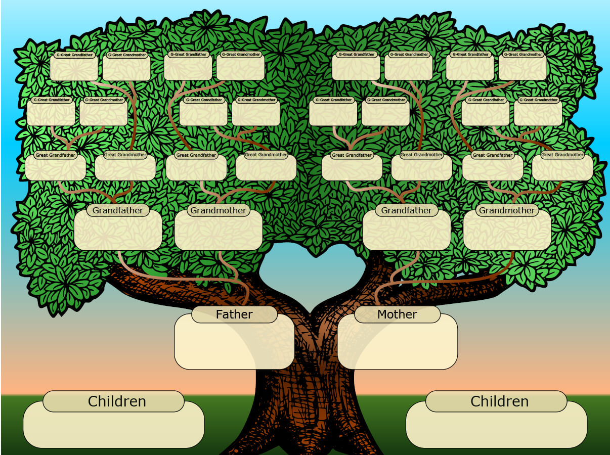 Family Tree Powerpoint Template Is A Free Template With With Regard To Powerpoint Genealogy Template