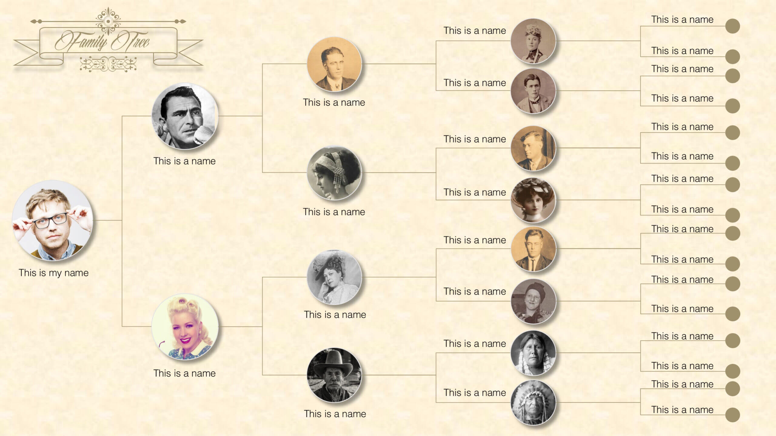 Family Tree Powerpoint Templates With Regard To Powerpoint Genealogy Template