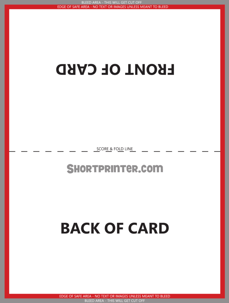 Folded Greeting Card Template Free Download within ...