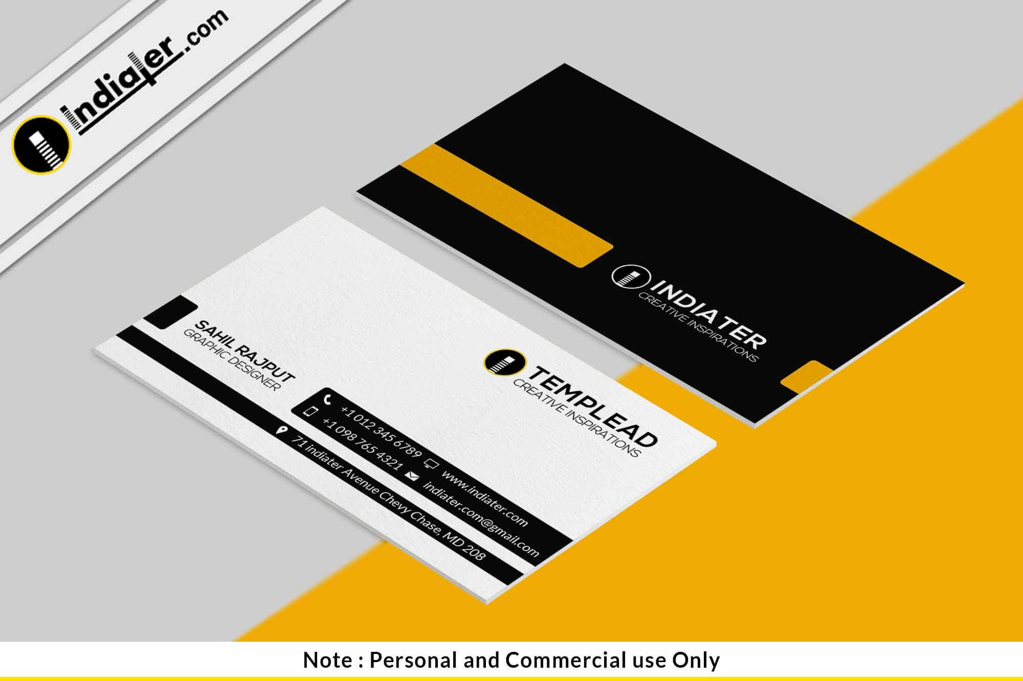Free Best Accountant Visiting Card Psd Template | Create Within Name Card Photoshop Template