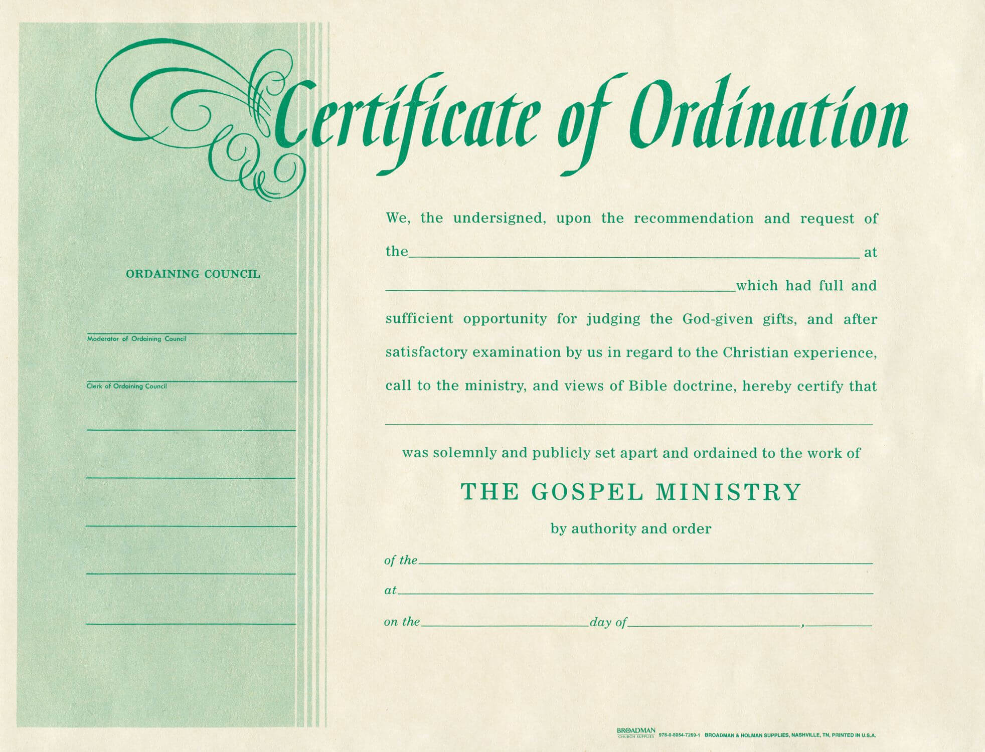 Free Blank Certificate Of Ordination | Ordination For Pertaining To Certificate Of License Template