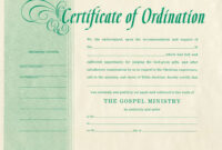 Free Blank Certificate Of Ordination   Ordination For throughout Free Ordination Certificate Template