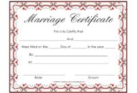 Free Blank Marriage Certificates | Printable Marriage intended for Blank Marriage Certificate Template