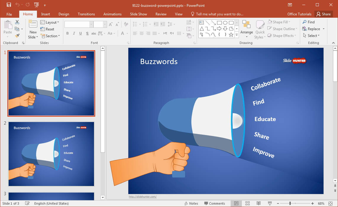 Free Buzzword Powerpoint Template For Powerpoint Replace Template
