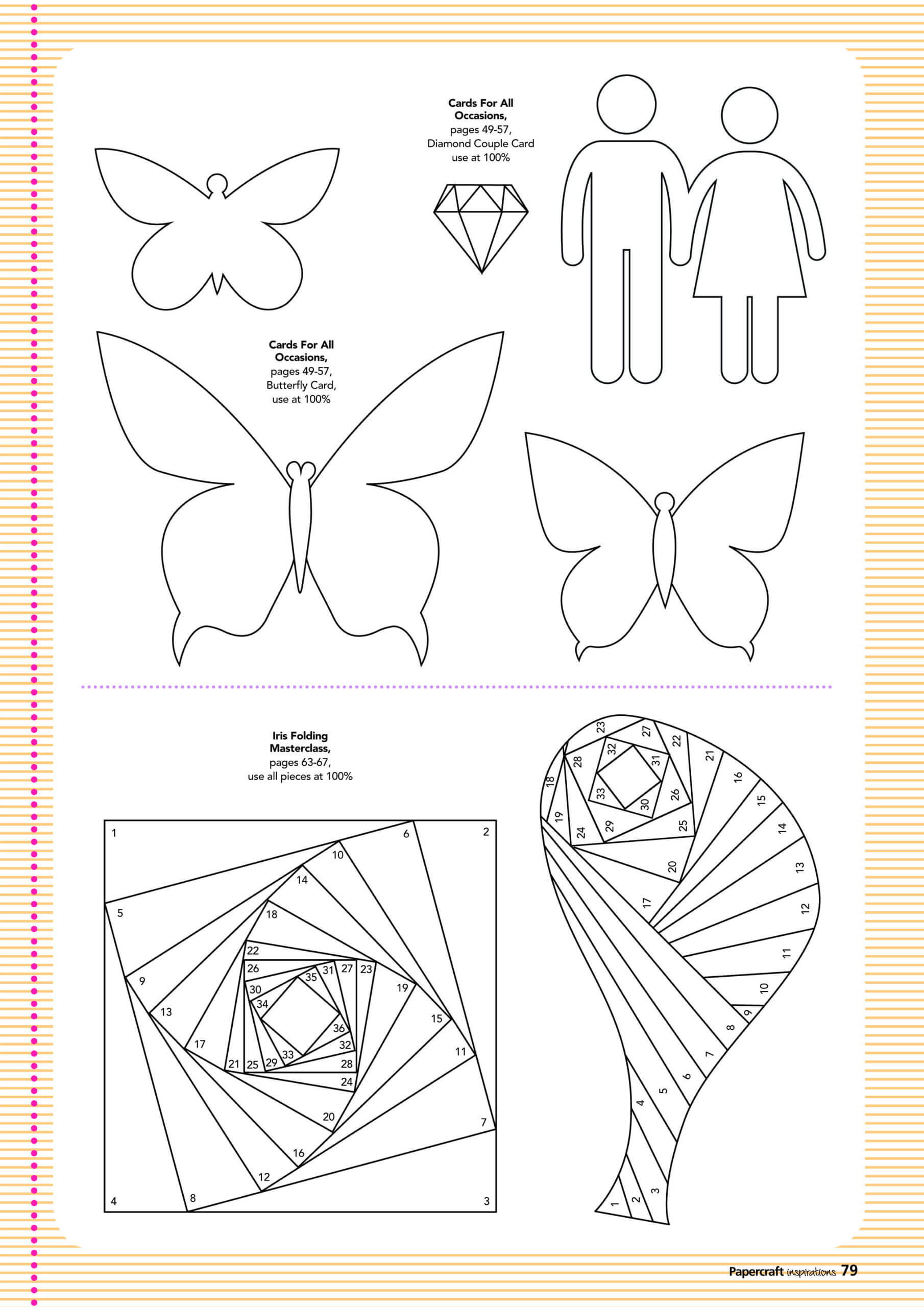 Free Card Making Templates From Papercraft Inspirations 123 With Regard To Card Folding Templates Free