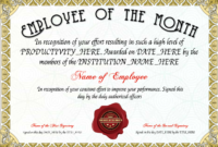 Free Employee Of The Month Certificate At Clevercertificates intended for Employee Of The Month Certificate Template With Picture