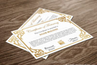 Free Indesign Certificate Template #1 | Free Indesign inside Indesign Certificate Template