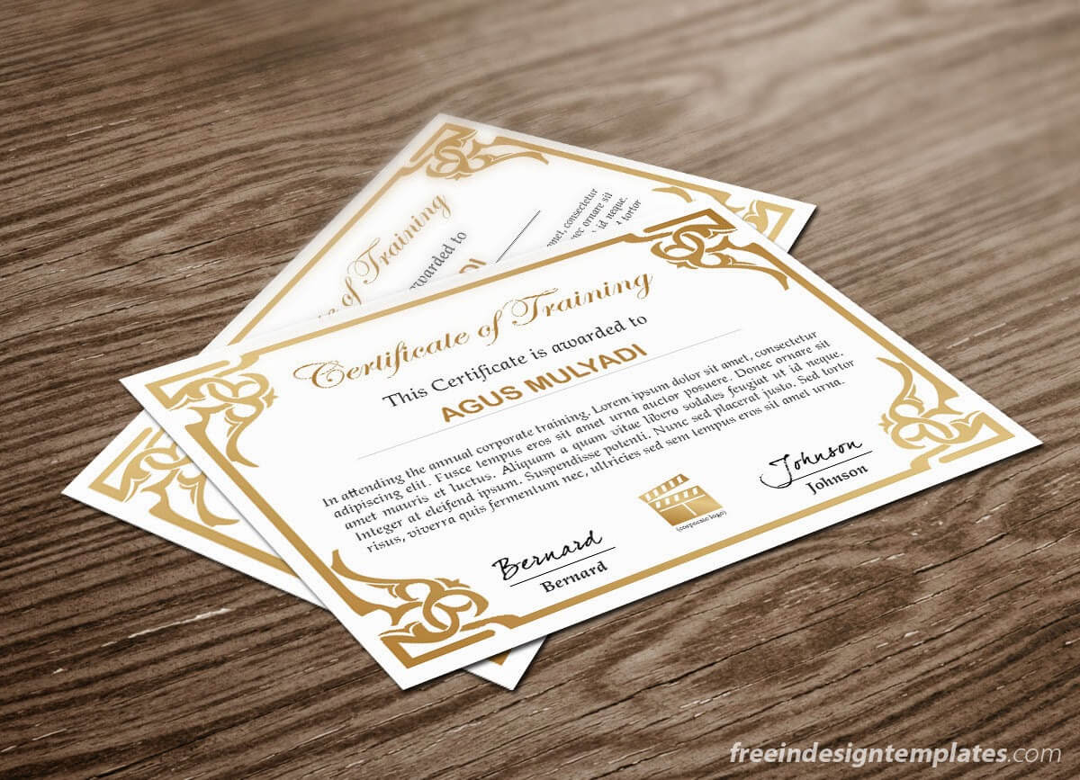 Free Indesign Certificate Template #1   Free Indesign Inside Indesign Certificate Template