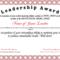 Free Leadership Award At Clevercertificates   Leadership in Leadership Award Certificate Template