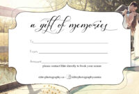 Free Photography Gift Certificate inside Free Photography Gift Certificate Template
