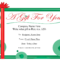 Free Printable Gift Certificate Template   Free Christmas Inside Kids Gift Certificate Template