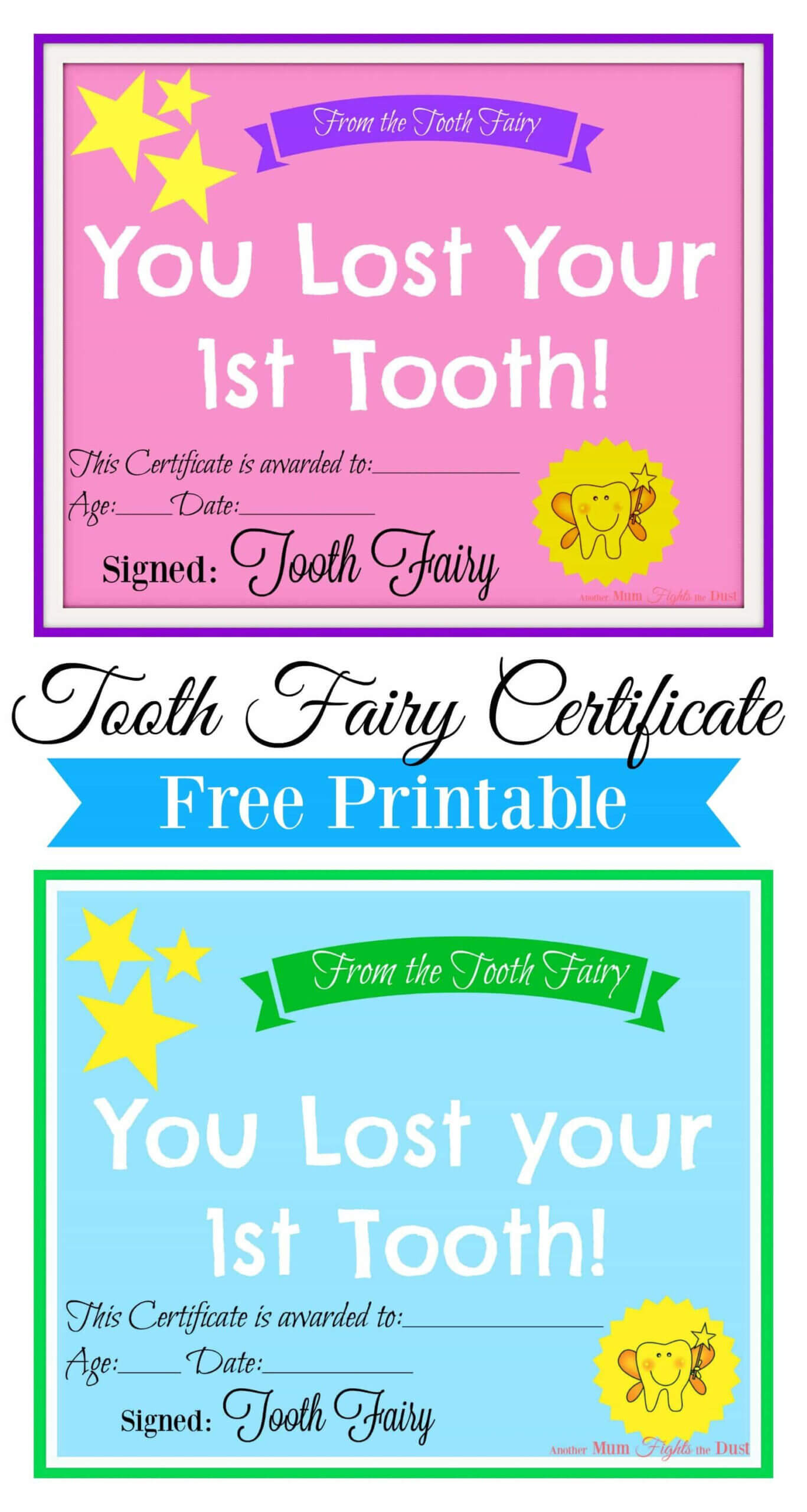 Free Printable Tooth Fairy Certificate | Tooth Fairy Regarding Tooth Fairy Certificate Template Free