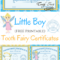 Free Printable Tooth Fairy Certificates | Tooth Fairy Throughout Tooth Fairy Certificate Template Free