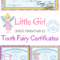 Free Printable Tooth Fairy Certificates | Tooth Fairy Within Tooth Fairy Certificate Template Free