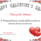 Free Romance And Valentine's Day Certificates At With Love Certificate Templates