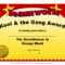 Fun Award Templatefree Employee Award Certificate Templates For Funny Certificates For Employees Templates