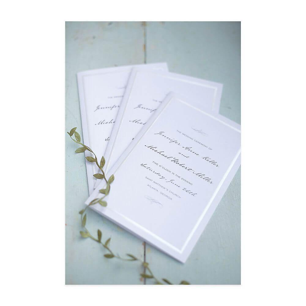 "Gartner Studios® Wedding Programs, Half Fold, 8 1/2"" X 11 Intended For Gartner Studios Place Cards Template"