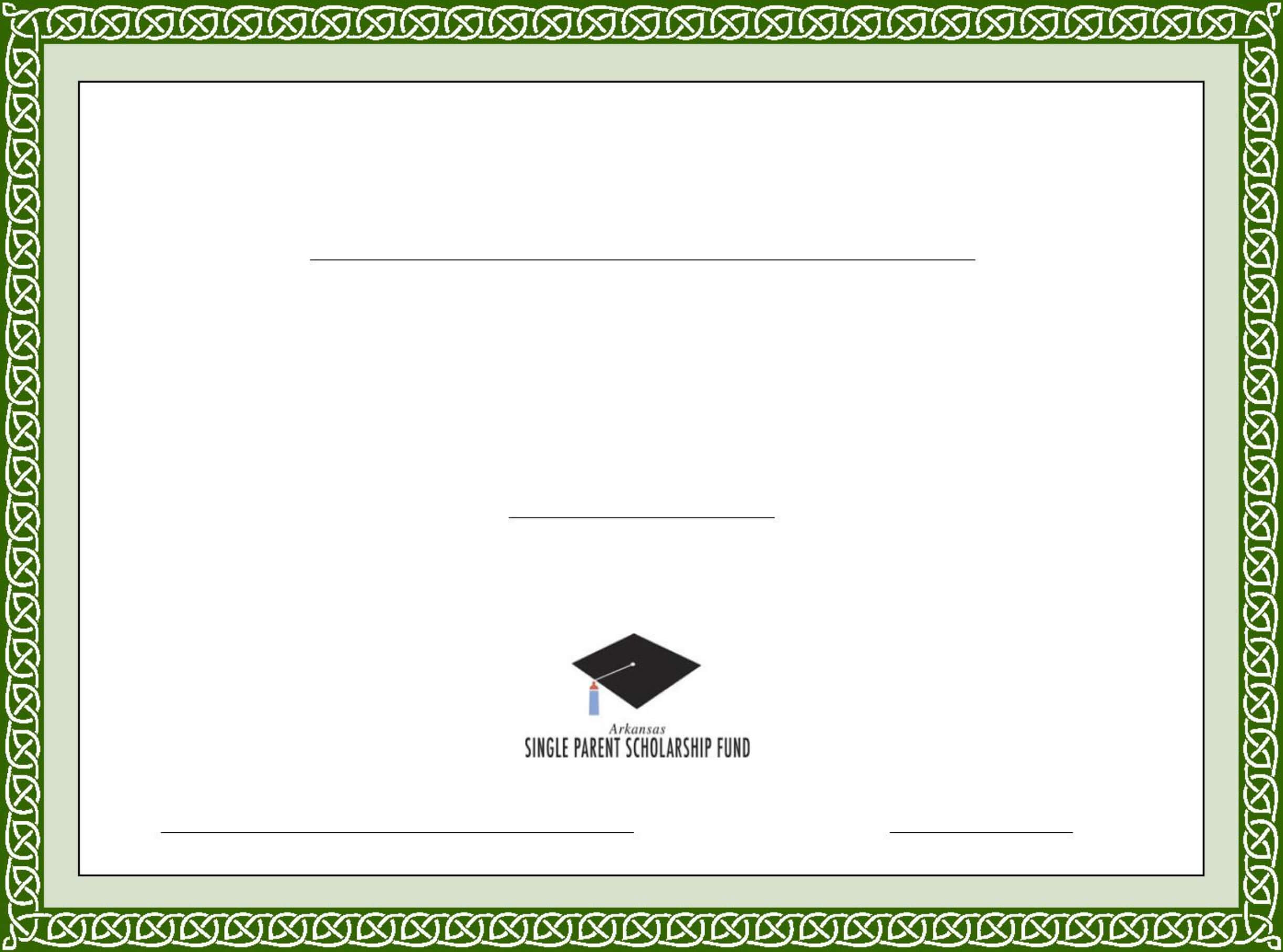Generic Scholarship Certificate Template Free Download Intended For Generic Certificate Template