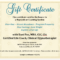 Gift Certificate – Dani Fox Hypnosis With Regard To Sample Pertaining To This Certificate Entitles The Bearer To Template