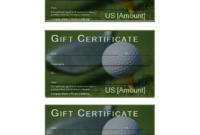 Golf Gift Certificate   Templates At Allbusinesstemplates regarding Golf Gift Certificate Template
