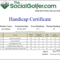 Golf Handicap Certificate Template Free Intended For Golf Certificate Template Free