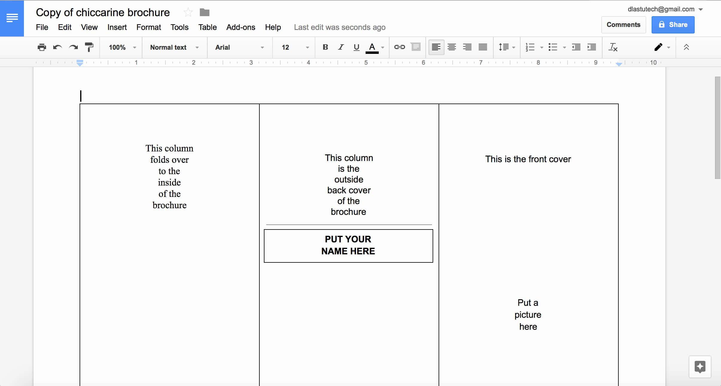 Google Doc Flyer Template Elegant Tutorial Making A Brochure Within Google Drive Brochure Template