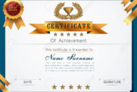 Graceful Certificate Template With Luxury And Modern Pattern,.. intended for Qualification Certificate Template