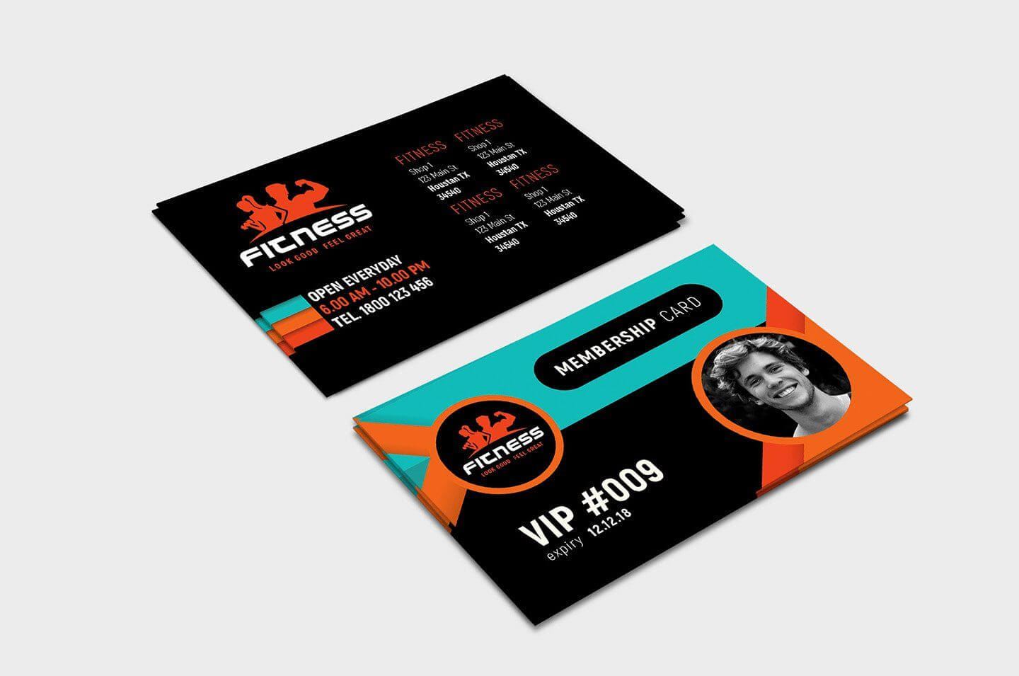 Gym Fitness Membership Card Template #ad , #ad, #illustrator With Gym Membership Card Template