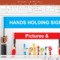 Hands Holding Letters And Signs Powerpoint Template Intended For Powerpoint Default Template