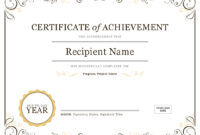 How To Create Awards Certificates – Awards Judging System with regard to Promotion Certificate Template