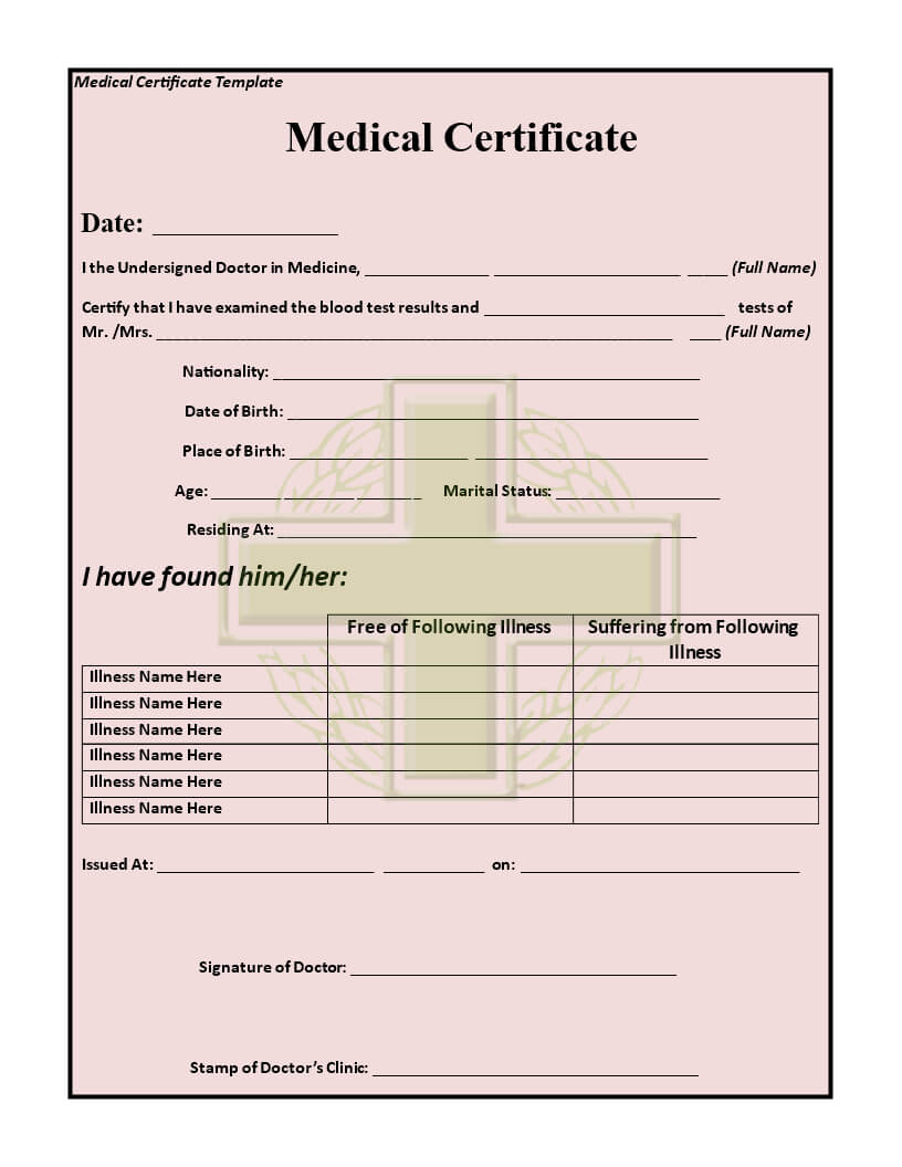 How To Make A Medical Certificate - Yatay.horizonconsulting.co With Fake Medical Certificate Template Download
