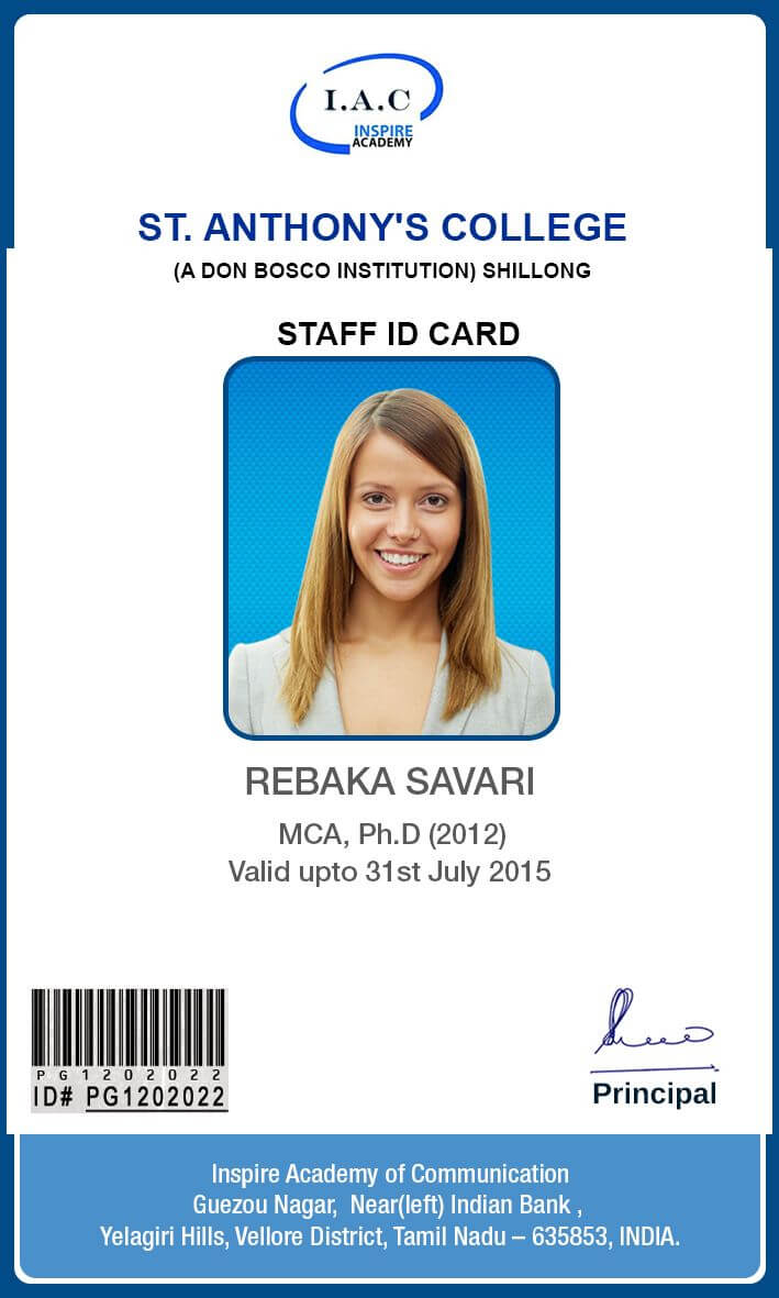 Id Card Designs | Identity Card Design, Id Card Template Regarding Teacher Id Card Template