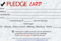 Image Result For Pledge Card | Pledge, How To Plan, Cards within Building Fund Pledge Card Template