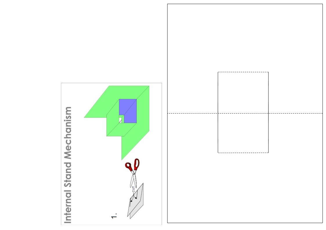 Internal Stand Template | Pop Up Cards, Paper Butterflies Regarding Card Stand Template