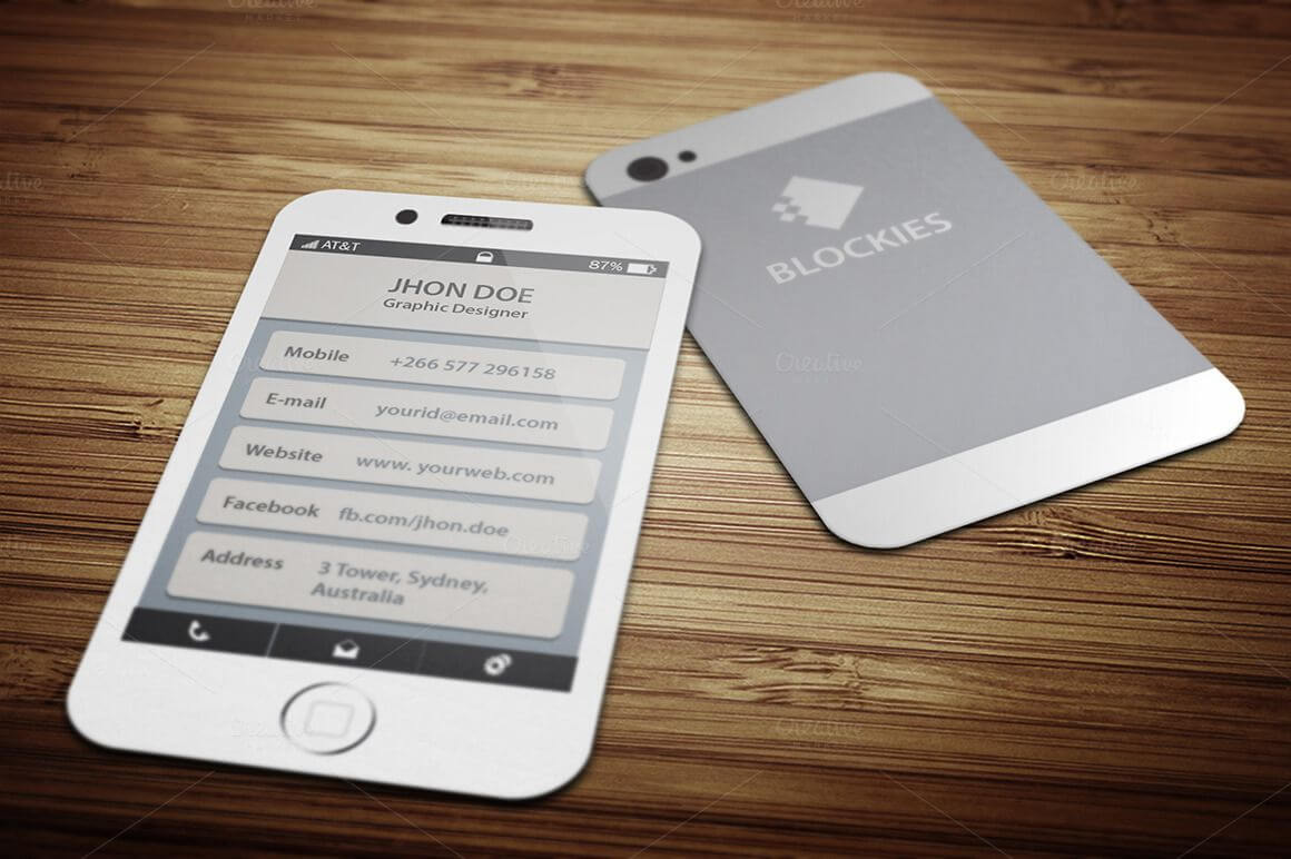 Iphone 6 (35% Off) Business Cardjigsawlab On With Iphone Business Card Template