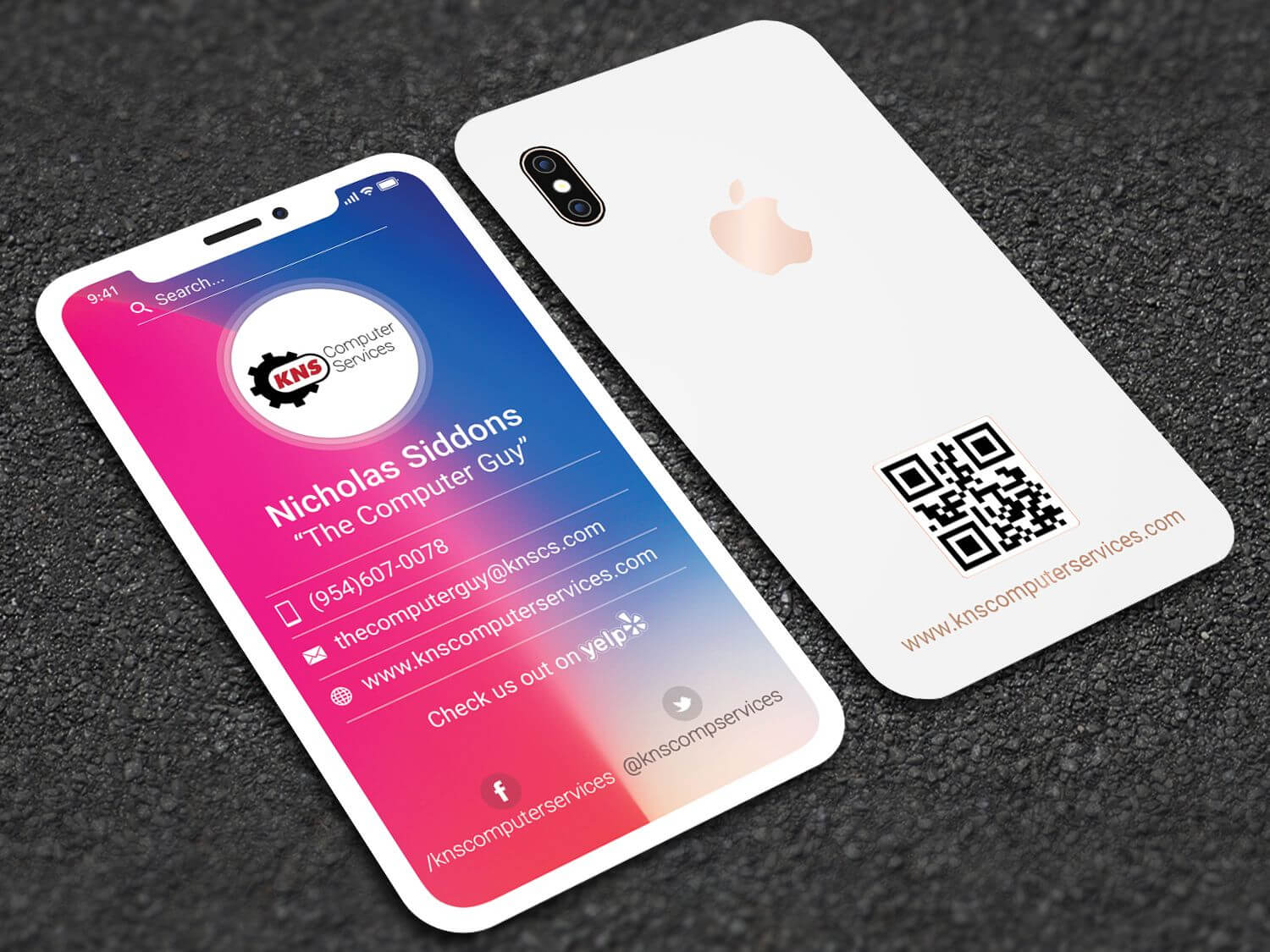 Iphone X Style Business Card | Professional Business Card Intended For Iphone Business Card Template