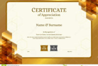 Luxury Certificate Template With Elegant Border Frame inside Elegant Certificate Templates Free