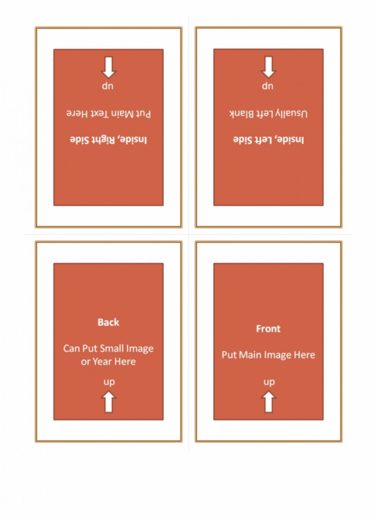 quarter fold greeting card template  business plan templates